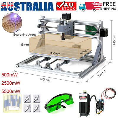 CNC3018 DIY CNC Router Kit 2-in-1 Laser Engraving Machine GRBL Control 3 Axis AU