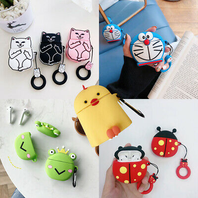 Cute Animals Pattern Accessories Protective Soft Case Cover Skin For Lot AirPods