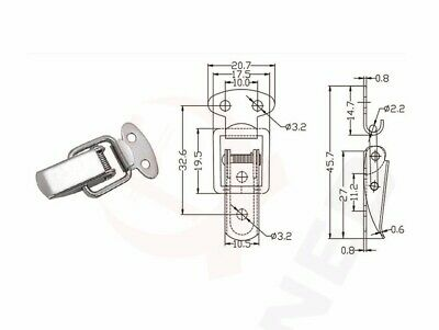 Cabinet Boxes Spring Loaded Latch Catch Toggle Sliding Door Simple Window