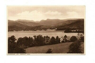 Cumbria - The Lake District, Windermere & the Langdale Pikes - Vintage Postcard