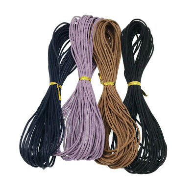 4x10m Waxed Cotton Cord Thread Rope for DIY Jewelry Necklace Bracelet 1.5mm