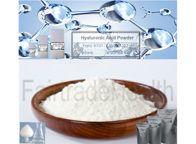 Pure Hyaluronic Acid Powder🗸Body Cellular Health Treatment🗸Cosmetic ✅ 5 grams