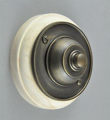 DOOR BELL-ELECTRIC PRESS BUTTON-6 color-SOLID BRASS-ON MOUNT-front-12 volt wired