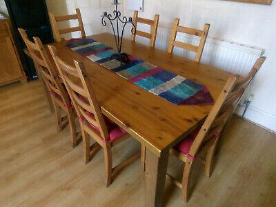 Dining Table & Six Chairs. Shabby Chic