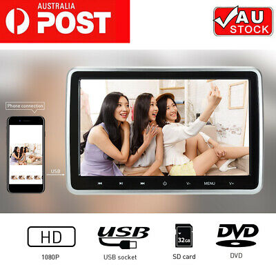 "10.1"" 1080P Touched Car Headrest DVD Player and Play Rear-Seat Entertainment"
