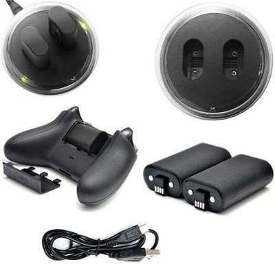 New For XBOX ONE Controller Play Charging Cable + 2 x Rechargeable Battery Pack