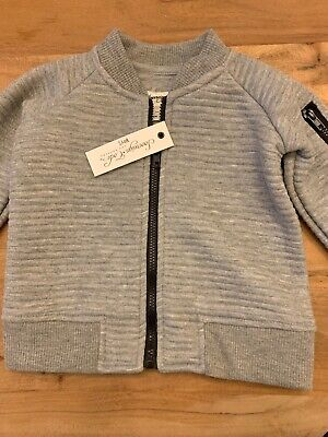 Sovereign Code Boys 12M Quilted Gray Full Zip Sweat Shirt New