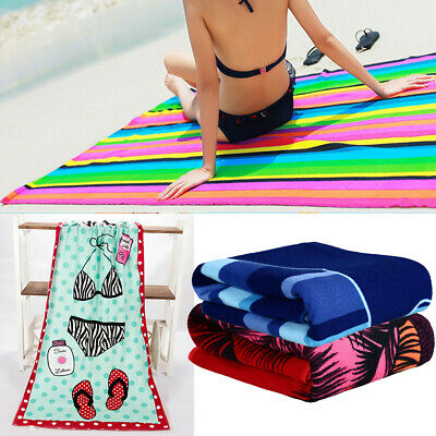 Large Lightweight Microfibre Beach Bath Towel Swimming Spa Sport Gym Quick Dry