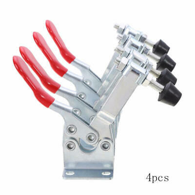 4Pcs Holding Capacity 100Kg Quick Release Vertical Type GH-201b Toggle Clamp jkl