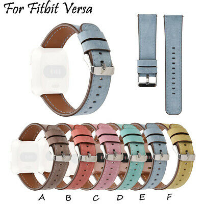 For Fitbit Versa Slim Premium Leather Watch Band Replacement Strap For Women Men