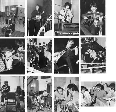 THE BEATLES REVOLVER & Sgt  Peppers Sessions Set Of 8 X 10 Superb