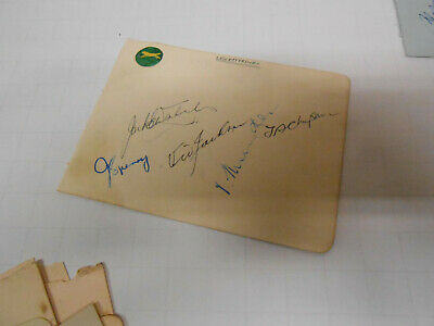 Cricketers  signatures Leicestershire