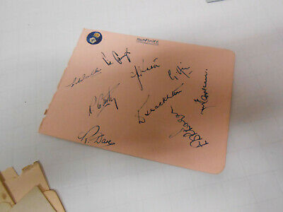 Cricketers  signatures Hampshire
