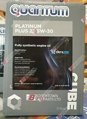Genuine Quantum Platinum Plus 23 5W-30 Fully Synthetic Oil 5 Litre Dexos2 C2 C3