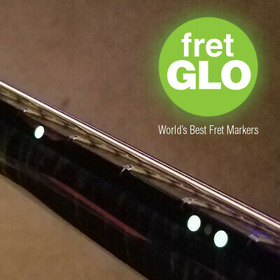 """Fret GLO """"Glow in the dark fret position marker Stickers for Guitar or Bass"""""""