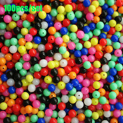 Mixed Color PE Plastic Floats Balls Fishing Cross Beads Drill  Double Pearl