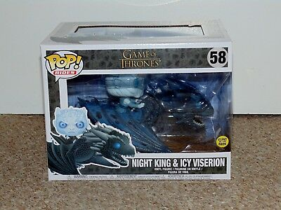 2018 Funko Pop! Rides Game of Thrones Night King & Icy Viserion Brand New # 58