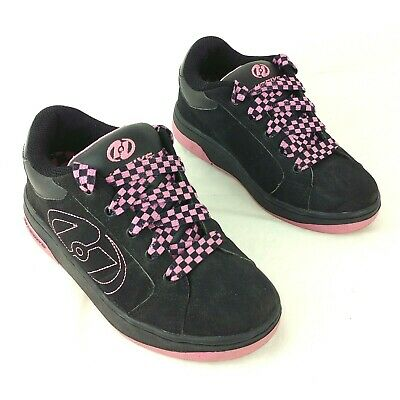 Heelys Bliss 2 Girls Pink And Black Size UK 2 in VGC Chequered laces Style 7144