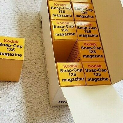 Kodak Snap-Cap 135 Magazines Package Of 10 Unused Made In Usa