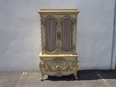 Antique French Provincial Dresser Armoire Rococo Baroque Chest Drawers Storage
