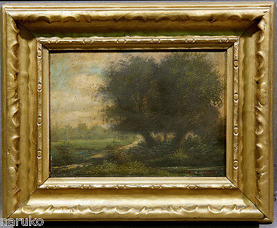 MID 19thC LANDSCAPE PAINTING ON BOARD BY Mauritas Frederik H De Haas