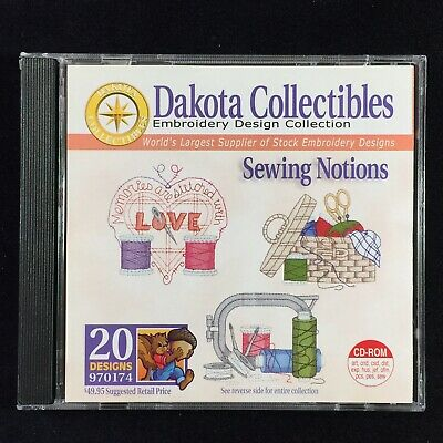 Sewing Notions Embroidery Designs Multi-format CD from Dakota Collectibles