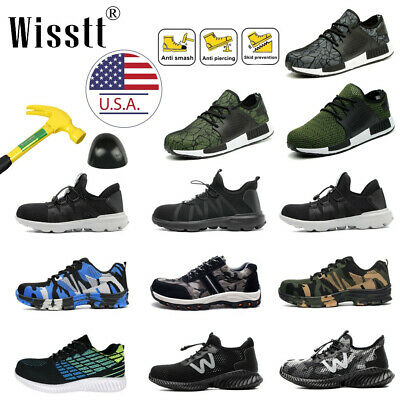 Men's Work Safety Shoes Steel Toe Boots Indestructible Bulletproof Sneakers ESD