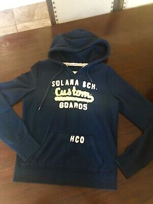 HOLLISTER LADIES NAVY Hoodie Size Small , EUR 2,73