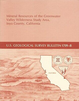 UNTAPPED GOLD MINES, Greenwater, Death Valley, Inyo County, Calif, SCARCE report