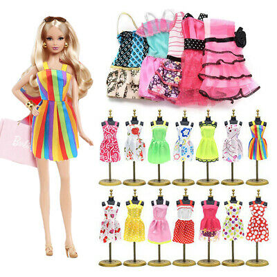 22pcs/set Fashion Casual Party Dress Wedding Gown For Barbie Dolls Random Color