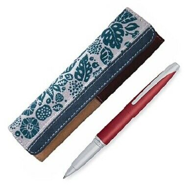RARE CROSS ATX CHILI RED ROLLERBALL PEN AND RAFE POUCH $150 Gift