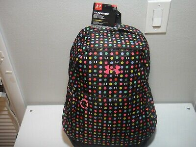 Under Armour Girls Strom 1 Favorite BackPack Padded Laptop Sleeve Polka Dots