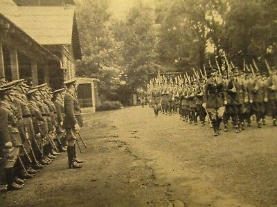 1931. Reviewing Troops At Camp Devens, Mass. Postcard H9