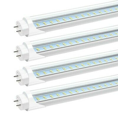 JESLED T8 T10 T12 4FT LED Light Tube, 24W 3000LM, 6000K, 4 Foot LED Bulbs Rep...