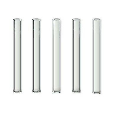 4 inch Long 5 Piece Pyrex Glass Tubes 12 mm OD 1.5 mm Thick Wall Tubing Boros...