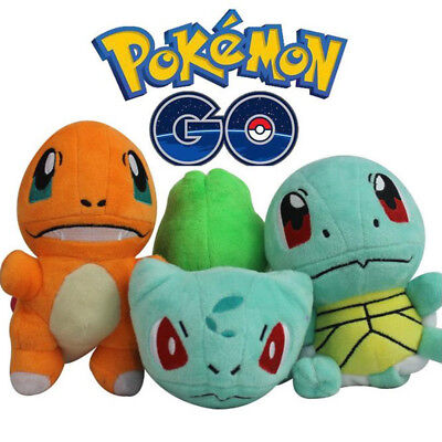 Pokemon Bulbasaur Charmander Squirtle Figuers Plush Doll Kids Boy Girl Toy Gift