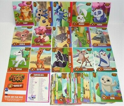 Animal Jam Deluxe Trading Card Complete Base Set Of 54 Cards & Online Game Code