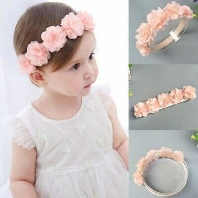 Baby Girls Lace Flower Headband Toddler Floral Hair Band Headwrap Headwear Gift