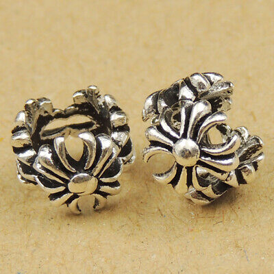 4 Pcs Celtic Cross Charms Spacers 925 Sterling Silver Jewelry Making Parts 030X4