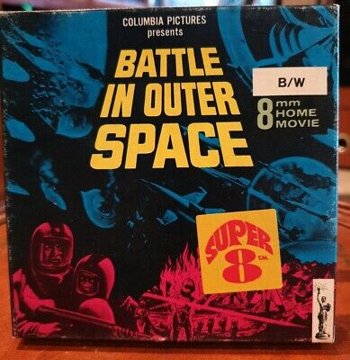 Super 8mm B/W Movie - Battle in Outer Space