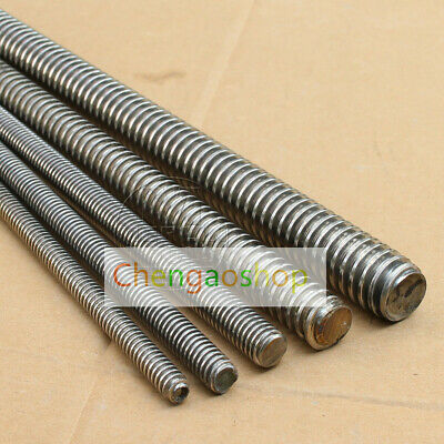 T10x2 - T20 x 4 , 304 Left Trapezoidal Screw Threaded Rod Long 100 to 600mm # ZX