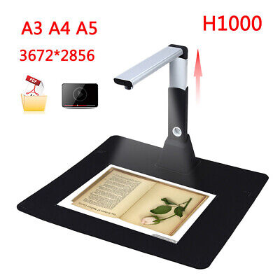 Portable A3 A4 A5 Document Photo Book Video Cam 3672*2856 Scanner Visualizer AU