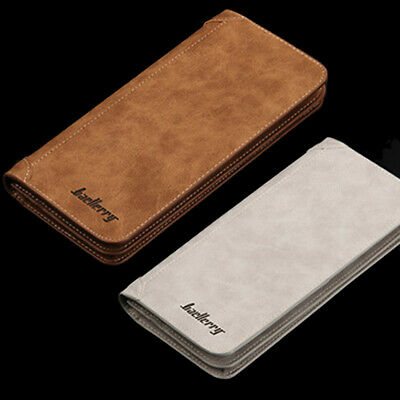 Leather Bifold Credit ID Card Holder Suit Wallet Purse Checkbook Clutch for Men