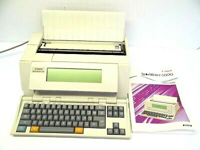 Canon Starwriter 60 VS160 Business Machine 1992 Personal Publishing System