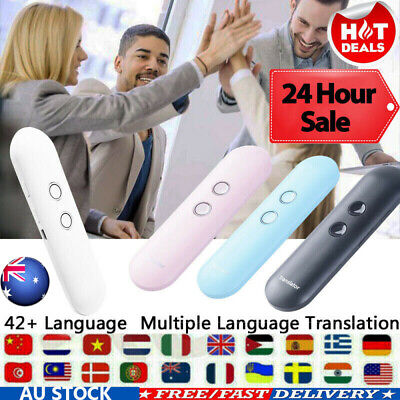T4 Portable Smart Voice Two-Way Real Time Voice 65 Multi-Language Translator AU