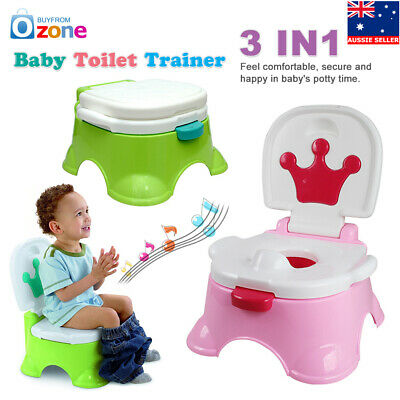 Music Training Potty Toilet Safety Baby Kids Trainer Toddler Cute Cartoon Seat
