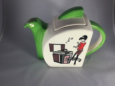 """Jukebox"" Art Deco/Retro Style Teapot"