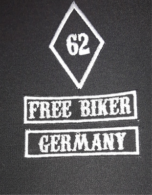 Patches, FREE BIKER GERMANY, front  Patches Set,Aufnäher