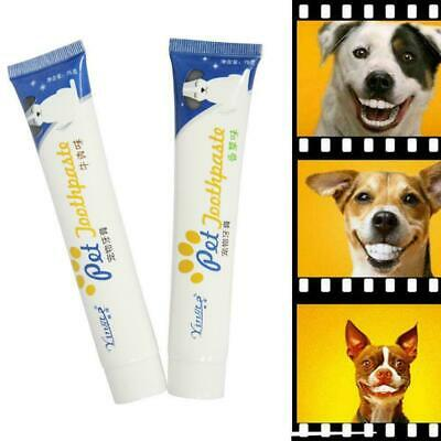 Edible Dog Puppy Cat Toothpaste Teeth Cleaning Care Supplies Pet Oral Hygie P8U6