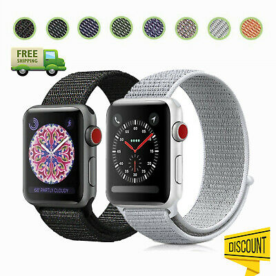 Für Apple Watch Nylon Armband Sport Loop aus Nylon-Gewebe Watch Series 1/2/3/4